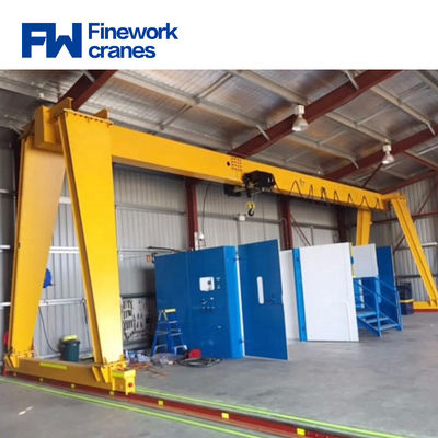Workshop 10t 20t Single Girder Lifting Gantry Crane